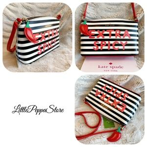 KATE SPADE LEATHER MILLIE EXTRA SPICY CROSSBODY